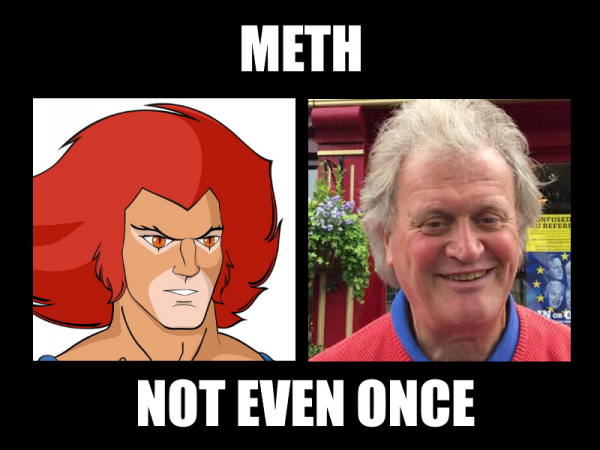 Tim Martin looks like a crystal meth addled Lion-O from Thundercats